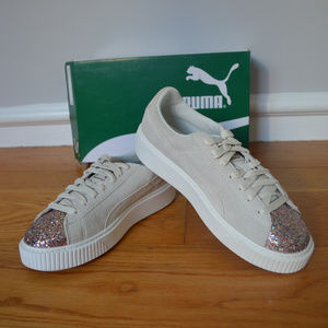 Puma Shoes - PUMA Glitter Platform Sneakers 6bc64fd2b